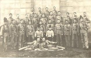Innsbruck, K.u.K. Austro-Hungarian military, soldiers group photo. Fotograf. Atelier Zech