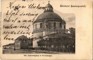 1904 Esztergom, Szent Anna templom, Óvónőképző. Kardos Dezső Korona bazár felvétele és kiadása (EK)