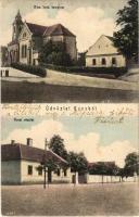 Kóny, Római katolikus templom, utcakép (Rb)