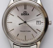 Doxa Tradition férfi quartz óra elemmel, működő, jó állapotban, fém szíjjal