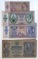 1930-1946. ~124db-os válogatott, szép tartású pengő bankjegy tétel, közte sorszámkövető párok és sorok, valamint több jó állapotú 1930. 20P is T:I--III