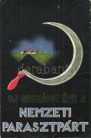 Új országot épít a Nemzeti Parasztpárt! / Hungarian National Peasant Party propaganda + 1945 HAHOSZ Hadifoglyok és Hozzátartozók Országos Szövetsége (fa)