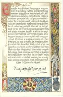 1916 Auguszta Főhercegasszony beszéde Zita Királynéhoz a magyar nők koronázási küldöttsége nevében / Speech of Princess Auguste litho