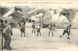 Sports dhiver. Le Hockey sur Glace. Le Splendide Hotel - Luchon-Superbagneres / winter sport, Ice hockey
