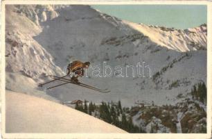 Man skiing. C.E.L.A. Geneve No. 66.