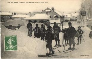 Les Rousses, Service des Dépéches en skis (Hiver 1907) / winter sport, skis dispatches Service. TCV card