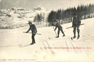 Les Alpes, Skieurs Gapencais au col Bayard / winter sport, skiing (EK)