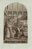 Mózes főpappá avatja Áront. / Jewish art postcard with Moses and Aron. Judaica