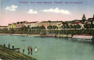 1929 Przemysl, San i widok Wybrzeze / San und Kalansicht / general view with San river