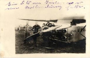 Lufthansa aeroplane. photo