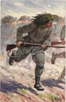 WWI Italian military art postcard. 300/II. s: V. Polli