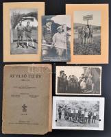 cca 1930-1945 A 304. sz. Kőrösi Csoma Sándor cserkészcsapattal kapcsolatos okmányok, nyomtatványok, fotók. A történetükről szóló könyv. Vegyes állapotban