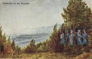 Feldwache an der Weichsel. Josef Gerstmayer / WWI Austro-Hungarian K.u.K. military field guards near the Vistula