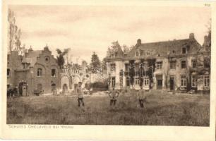 Schloss Cheluveld bei Ypern. Der Kriegs 1914/16 in Postkarten, Abteilung Belgien. Herausgegeben von der Müchener Ostpreussenhilfe