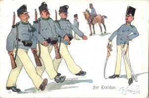 Der Erzieher / WWI Austro-Hungarian K.u.K. military art postcard. B.K.W.I. 441-12. s: Fritz Schönpflug (EK)