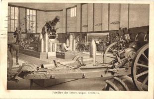 Pavillon der österr.-ungar. Artillerie. Kriegsausstellung Wien 1917 / WWI Austro-Hungarian K.u.K. military artillery base, cannon