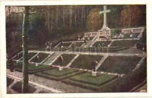 Kriegerfriedhof Zawadka / WWI Austro-Hungarian K.u.K. military art postcard, heroes cemetery in Zawadka s: Franz Poledne