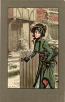 Lady. M. M. Vienne Nr. 284. litho s: Alice Martineau