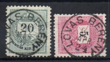 1881-1889 LOVASBERÉNY bélyegzés 2klf bélyegen