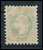 1867 3kr erős gépszínátnyomattal, látványos, rendkívül ritka darab