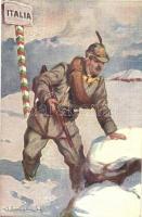 WWI Italian military art postcard. 400-23. s: Lombardi (b)