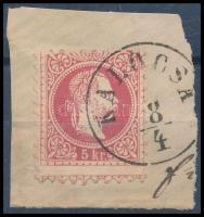 1867 Képbe fogazott 5kr KALOCSA