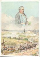 Österreichische Artillerie bei Custozza unter Vater Radetzky 1848. Chwalas Druck, Wien VII / Austrian military artillery in the Battle of Custoza, commanded by Field Marshal Radetzky s: F. N. Nemée