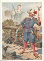 Kaiserliche Artillerie um 1600. Der Stuckmeyster Chwalas Druck, Wien VII / German military artillery s: F. N. Nemée