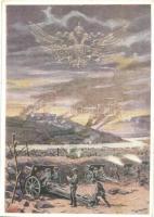 Unsere Artillerie am Isonzo 1916. Chwalas Druck, Wien VII / WWI Austro-Hungarian K.u.K. military artillery, mortar, cannon s: F. N. Nemée (EK)