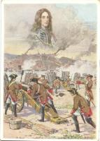 Österreichische Artillerie vor Belgrad unter Prinz Eugen 1717. Chwalas Druck, Wien VII / Austrian military artillery in the Siege of Belgrade, commanded by Prince Eugene of Savoy s: F. N. Nemée (EK)
