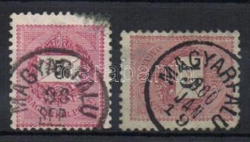 1889-1899 MAGYARFALU bélyegzés 2klf bélyegen