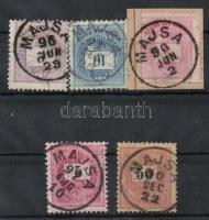1881-1889 MAJSA lebélyegzés 5klf bélyegen