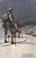 1916 A Szent István Társulat háborús képeskártyáinak karácsonyi sorozat / WWI K.u.K. mmilitary art postcard (Rb)