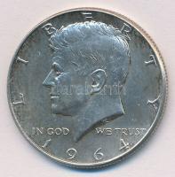 Amerikai Egyesült Államok 1964. 1/2$ Ag Kennedy T:1- USA 1964. 1/2 Dollar Ag Kennedy C:AU Krause KM#202