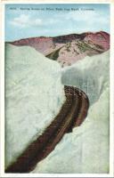 Colorado, Spring scene on Pikes Peak Cog Railway Road (EK)