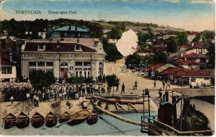 1927 Tutrakan, Turtucaia; Drum spre Port / port view (surface damage)