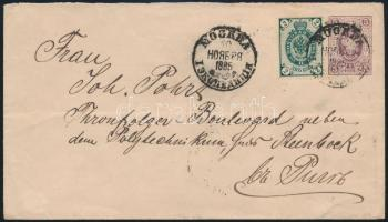 1885 Levél Rigába / Cover from Moscow to Riga
