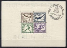 1936 Olimpia Mi blokk 5z vastag papír