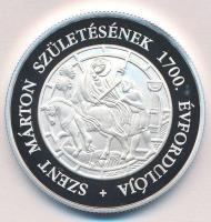 2016. 10.000Ft Ag Szent Márton születésének 1700. évfordulója tanúsítvánnyal T:PP