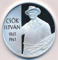 2015. 10.000Ft Ag Csók István tanúsítvánnyal T:PP
