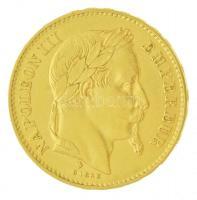 Franciaország / Második Császárság 1869BB 20Fr Au III. Napóleon Strasbourg (6,44g/0.900) T:2  France / Second Empire 1869BB 20 Francs Au Napoleon III Strasbourg (6,44g/0.900) C:XF Krause KM# 801.2