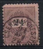 1889 24kr törött 2 az értékszámban (sarokhiba) CSERNA-KERESZTU(R)