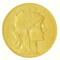 Franciaország / Modern Köztársaság 1910. 20Fr Au Kakas (6,48g/0.900) T:1-,2  France / Modern Republic 1910. 20 Francs Au Rooster (6,48g/0.900) C:AU,XF  Krause KM#857