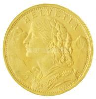 Svájc 1935L-B 20Fr Helvetia (6,46g/0.900) T:1-,2 Switzerland 1935L-B 20 Francs Helvetia (6,46g/0.900) C:AU,XF Krause KM#35.1