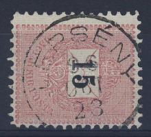 1889 15kr 11 1/2 fogazás LEPSÉNY
