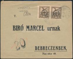 Debrecen II. 1919 Helyi levél cenzúrázva