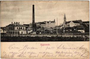 1907 Kaposvár, Erzsébet út, Városi villanytelep, Kemény palota. Magyar automatagyár és kölcsönző rt. kiadása