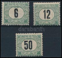 1905 Zöldportó A 6F, 12F, 50F (17.000)