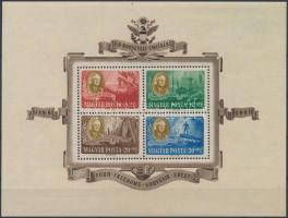 1947 Roosevelt blokk pár (50.000) (légi jó minőségű, a postain ránc / airmail good quality, crease on the postal block)