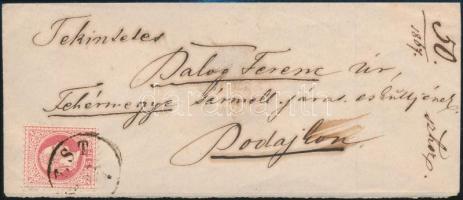 1867 5kr levélen / on cover PEST - BODAIK